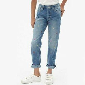 Gap Glitter Heart Girlfriend Denim Jeans